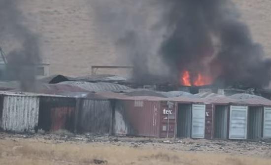 شاهد : صور جديدة لانفجار مستودع الذخيرة في منطقة الطافح بالزرقاء