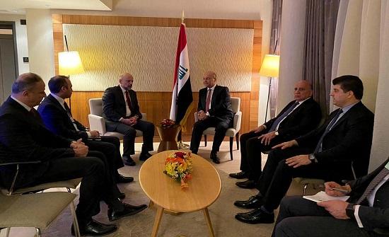 الرزاز والرئيس العراقي يؤكدان على العلاقات التاريخية