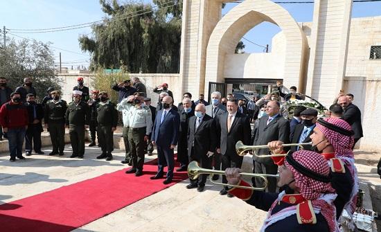 السفير العذاري يزور مقبرة شهداء الجيش العراقي بالمفرق