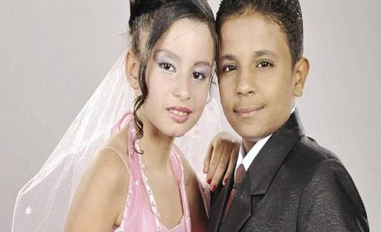 بالصور : بعد 6 سنوات خطوبة.. زواج أصغر عروسين في مصر
