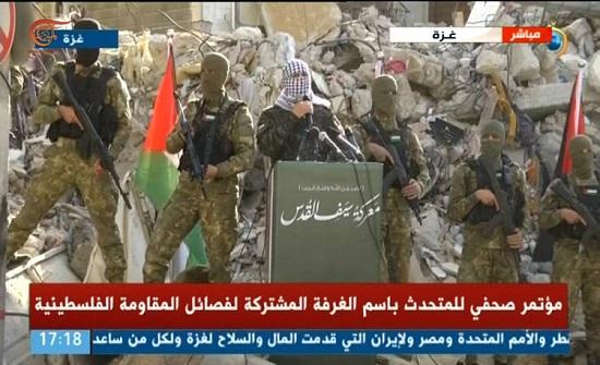 الغرفة المشتركة للمقاومة الفلسطينية: إن عدتم عدنا وهزيمتكم حتمية .. بالفيديو