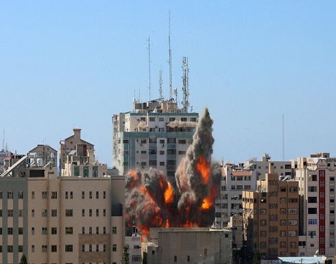 """""""حماس"""" تنفي الادعاءات الإسرائيلية حول استهداف برج الجلاء"""