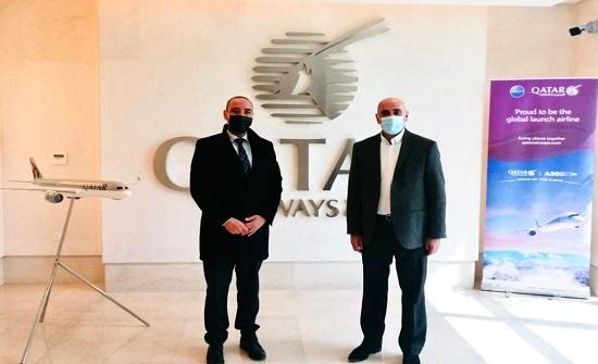 تنشيط السياحة والخطوط القطرية تبحثان تسويق المملكة بكأس العالم 2022