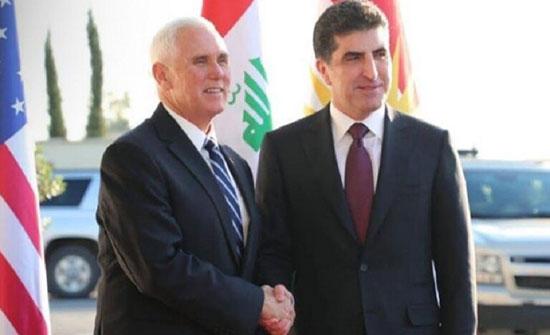 أربيل: زيارة بينس لكردستان العراق دليل على الدعم الأمريكي للبلاد
