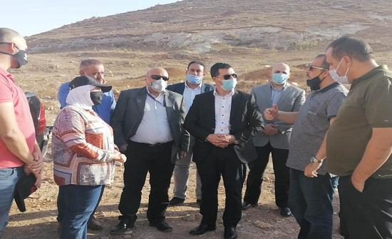 وزير المياه والري يزور مياه اليرموك ومشروع وادي العرب