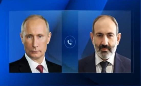 بوتين يشدد لباشينيان على ضرورة وقف إطلاق النار في قره باغ