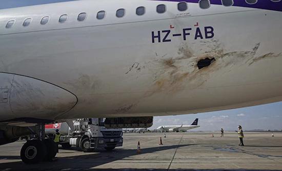 فيديو وصور : استهداف مطار أبها تم بنسخة من طائرة أبابيل- تي إيرانية الصنع