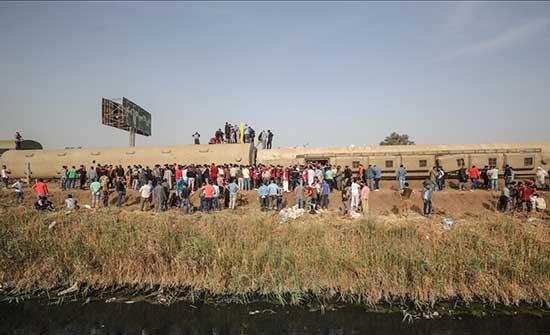 رابع حادث قطار بمصر في شهر.. خروج قطار عن القضبان في دمياط - بالفيديو