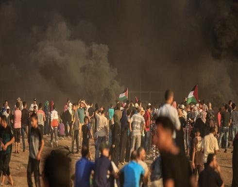 7 اصابات باعتداء الاحتلال الاسرائيلي على مسيرات العودة في غزة