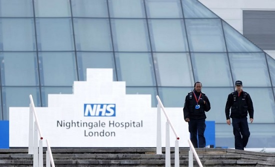 لندن تعيد تشغيل مستشفى ميداني للتعامل مع تدفق مرضى كوفيد-19