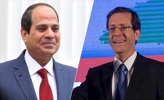 هاتفيا.. السيسي يبحث مع الرئيس الإسرائيلي إحياء عملية السلام