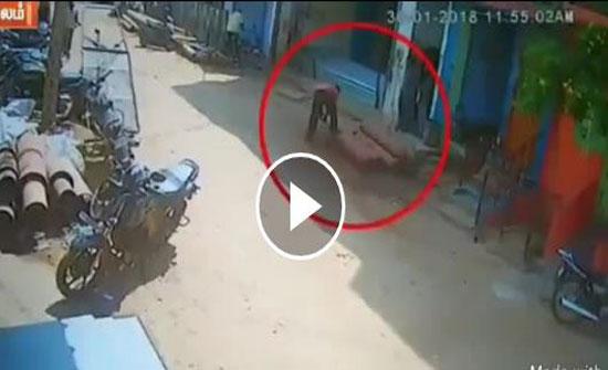أسطوانة غاز مضغوط تتحول إلى صاروخ أرضي (فيديو)
