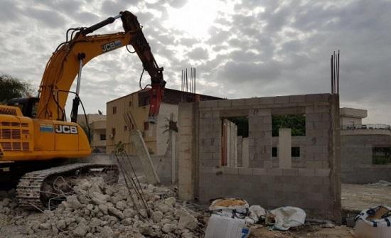 الاحتلال يهدم منزلا في عرعرة داخل اراضي عام 48