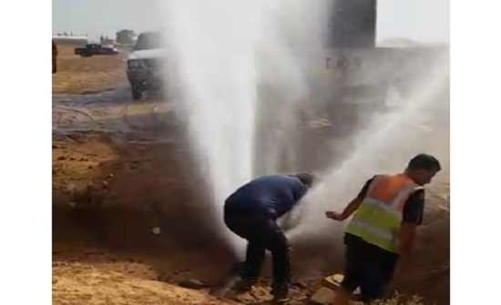 المياه تضبط اعتداء جديد في منطقة الموقر