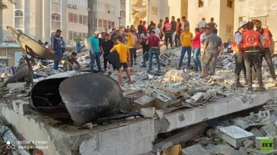 ارتفاع حصيلة شهداء الضربات الإسرائيلية على غزة إلى 177 (صور)
