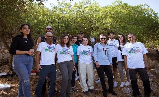 الملكة رانيا العبدالله تشارك في أحد مسارات درب الأردن في برقش