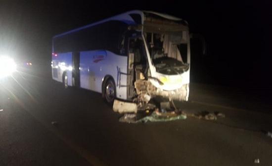 27 إصابة  إثر حادث تصادم في العقبة