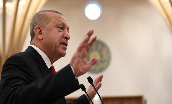 أردوغان: لا يمكن لمصر واليونان وإسرائيل إطلاق خط لنقل الغاز بدون موافقة تركيا