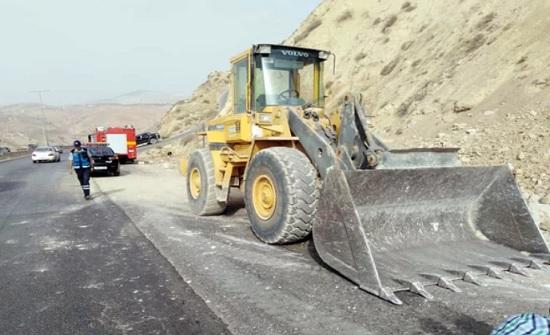 بؤر انهيارات على طريق إربد عمان ما تزال دون معالجة
