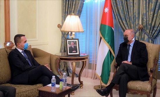الخصاونة يبحث مع وزير الخارجية الايطالي العلاقات الثنائية والاوضاع في المنطقة