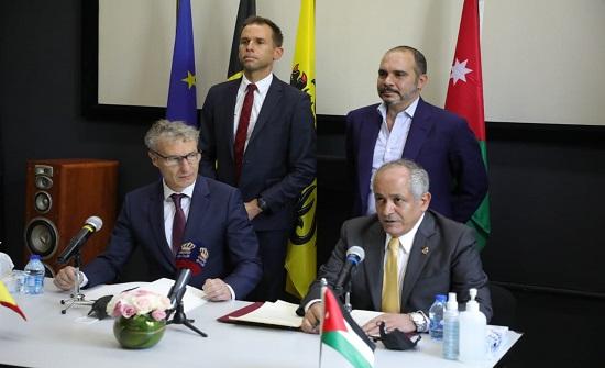 العايد يوقع اتفاقية الإنتاج المرئي والمسموع بين الأردن والمجتمع الفلمندي - صور