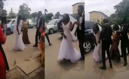 شاهد: نيجيرية تهرب من عريسها بحفل الزفاف بعد اكتشاف خيانته لها مع صديقتها