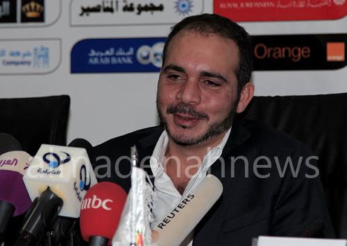 الأمير علي يؤكد مواصلة السعي للارتقاء بالكرة الأردنية