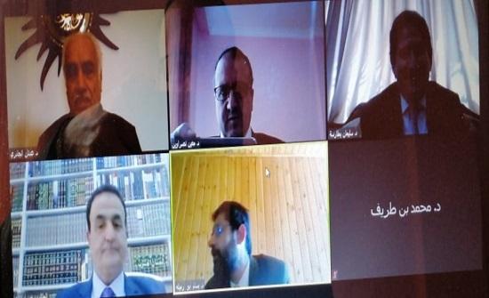 """مناقشة رسالة ماجستير ثانية عن بعد في """"عمان العربية"""""""