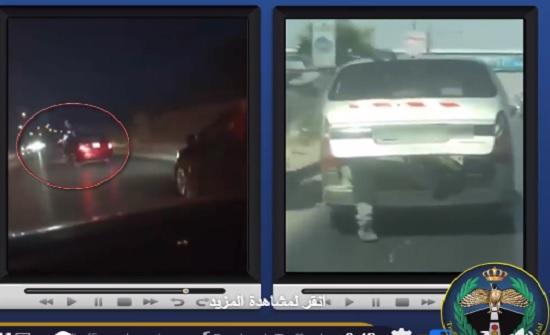 بالفيديو  : ضبط سائقين قادا بطريقة متهورة واستعراضية