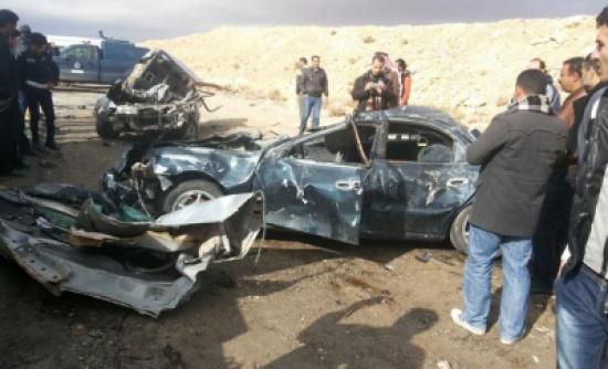 وفاة شخصين وإصابة (10) آخرين اثر حادث تصادم في إربد