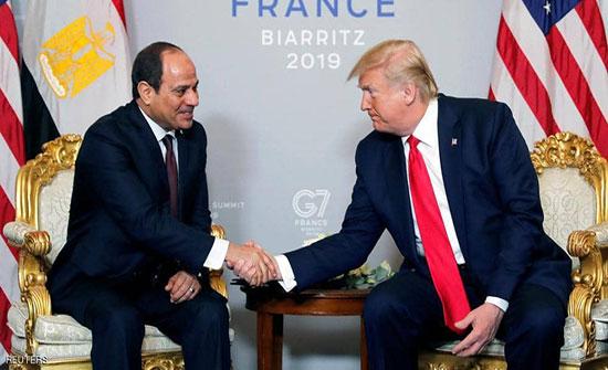 ترامب يهنئ السيسي.. والرئيس المصري يرد