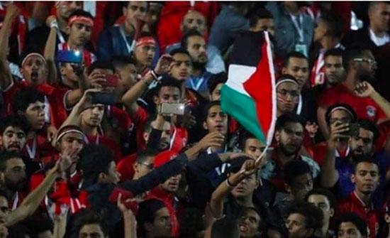 هكذا اعتقل الأمن المصري مشجعا رفع علم فلسطين خلال مباراة مصر وجنوب أفريقيا- (فيديو)
