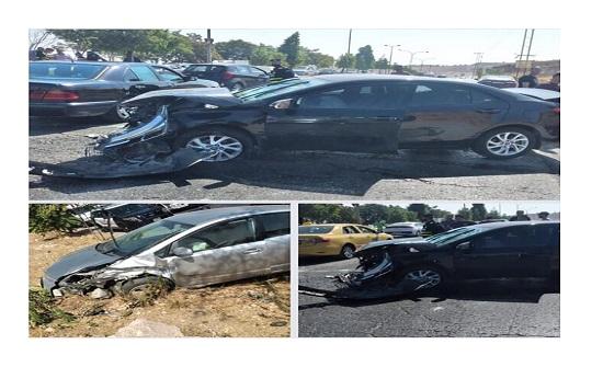 حادث سير بين 3 مركبات في شارع الأردن