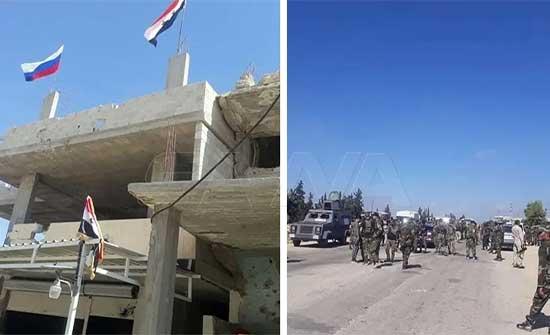 وحدات من الجيش السوري تدخل منطقة درعا البلد وتثبت حواجز
