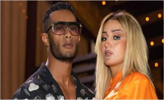 زوجة محمد رمضان في موقف محرج بسبب تصرف حسناء شقراء (فيديو)