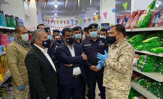 البريزات يتفقد الاسواق التجارية في محافظة العقبة