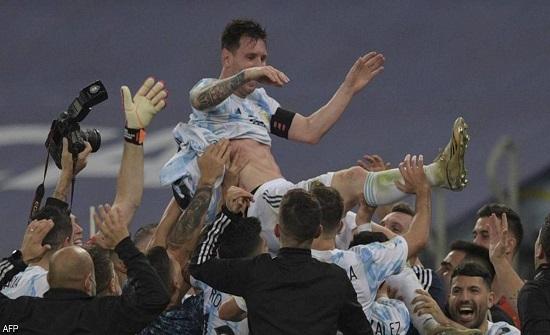 """الأرجنتين تظفر بـ""""كوبا أميركا"""" وميسي يحقق حلما طال انتظاره"""