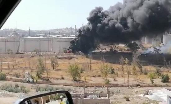 إخماد حريق بأحد صهاريج الفيول داخل مصفاة البترول