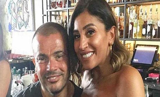 قريبة عادل إمام تخطف الأنظار من دينا الشربيني بظهورها مع عمرو دياب (صورة)