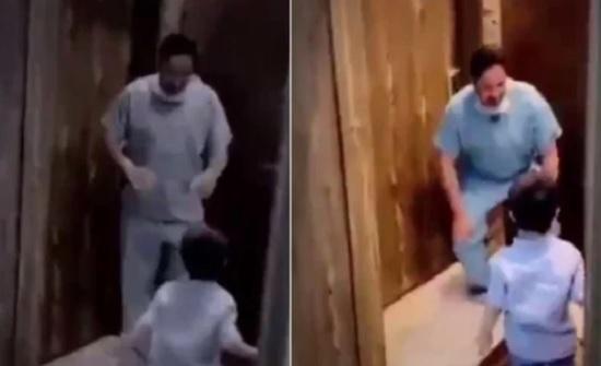 فيديو مؤثر .. ممرض سعودي يبكى على طفله بسبب كورونا