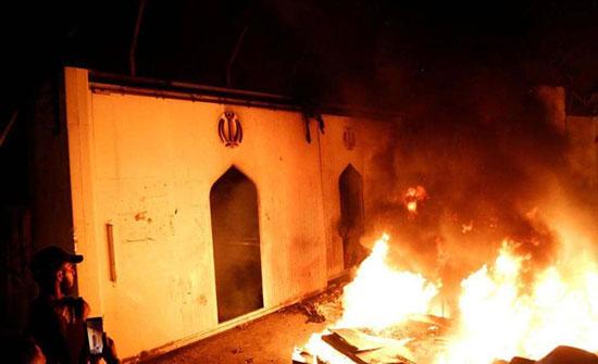"""تعليق إيراني """"غاضب"""" على حرق قنصليتها في النجف"""