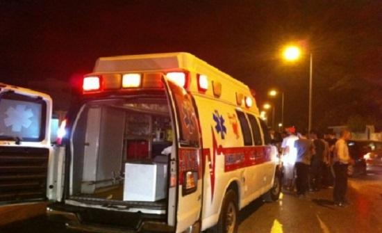 12 إصابة بحادث تصادم في البلقاء