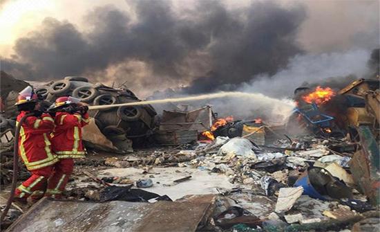 لبنان: استمرار البحث عن مفقودين بانفجار بيروت