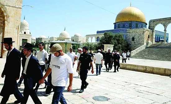 الاوقاف الفلسطينية: أكثر من 20 تدنيسا للأقصى