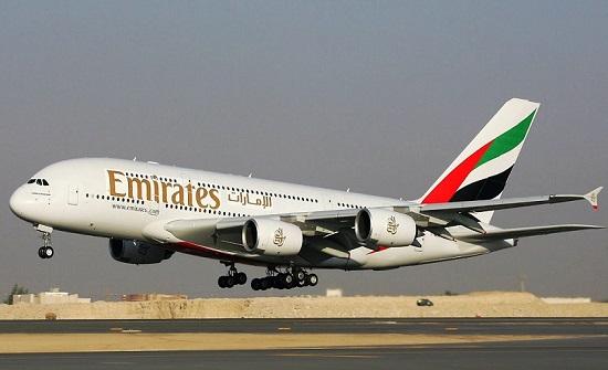 طيران الإمارات تعزز رحلاتها إلى الاردن