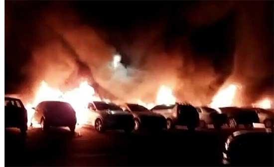 بالفيديو : نتنياهو يرسل 16 وحدة من قوات حرس الحدود بعد إحراق سيارات ومطعم في اللد