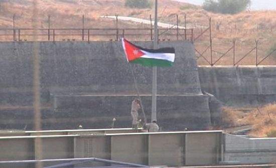 الجيش يرفع علم الأردن في اراضي الباقورة