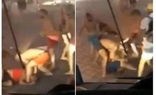 فيديو : بدون ملابس... مشاجرة بين شبان عرب واجانب في قبرص