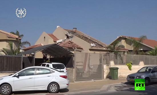 بالفيديو : آثار الدمار الذي خلفته صواريخ غزة على إسرائيل