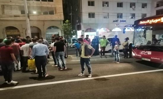 عمان : دهس شخص من قبل الباص السريع في المدينة الرياضية - صور